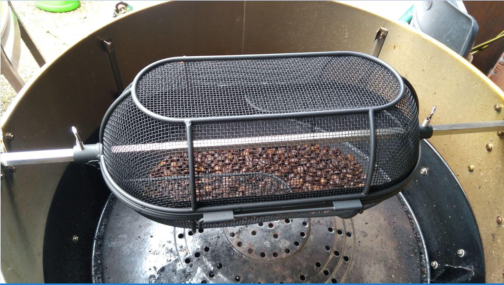 Drehspieß Für Gasgrill : Kaffee rösten mit dem gasgrill: erste versuche